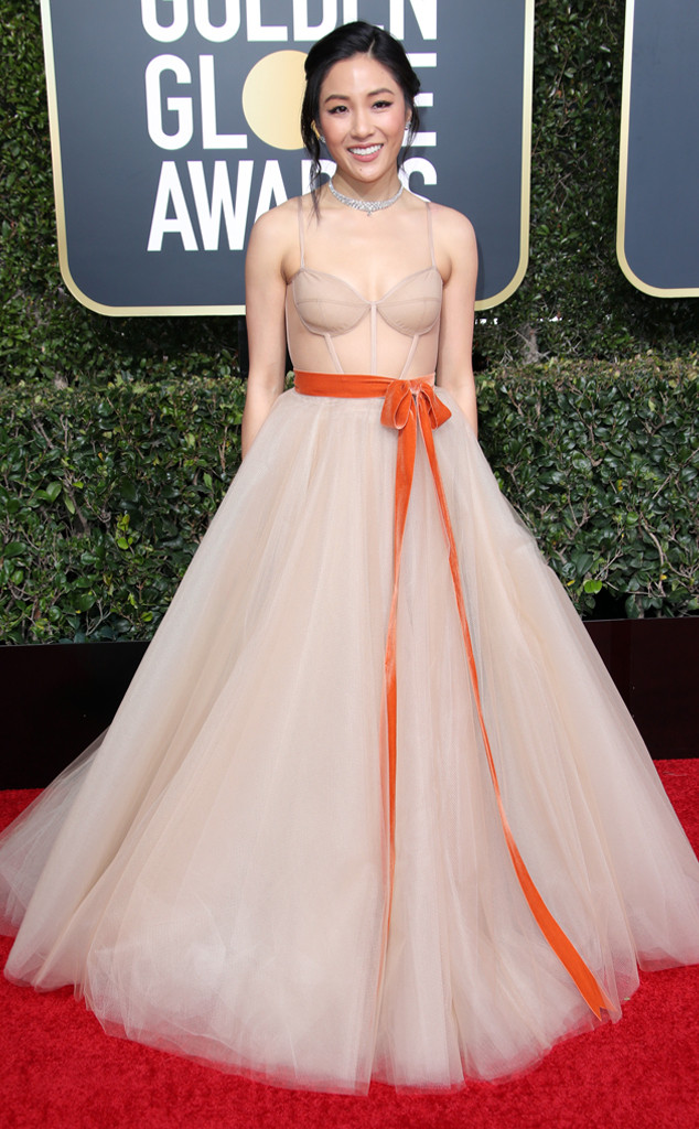Image result for constance wu golden globes dress