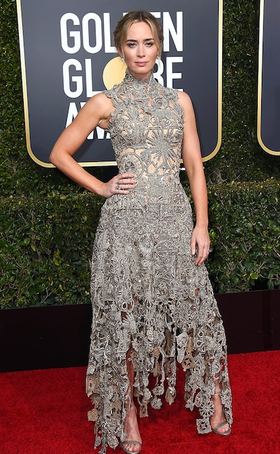 Emily Blunt, 2019 Golden Globes, Golden Globe Awards, Red Carpet Fashions