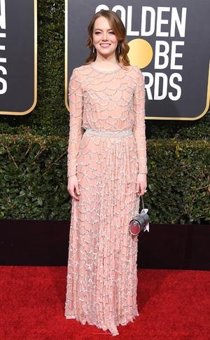 Emma Stone, 2019 Golden Globes, Golden Globe Awards, Red Carpet Fashions