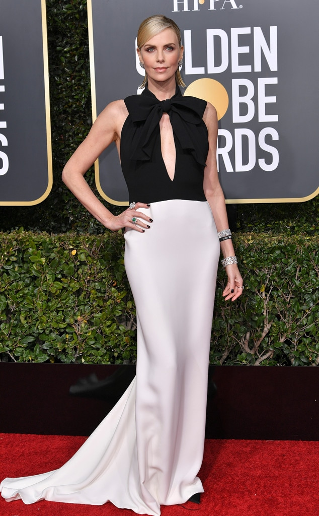 Charlize Theron, 2019 Golden Globes, Golden Globe Awards, Red Carpet Fashions