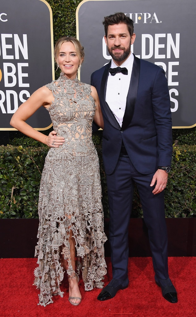 Emily Blunt, John Krasinski, 2019 Golden Globes, Couples