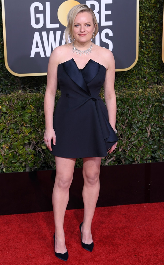 Elisabeth Moss, 2019 Golden Globes, Golden Globe Awards, Red Carpet Fashions