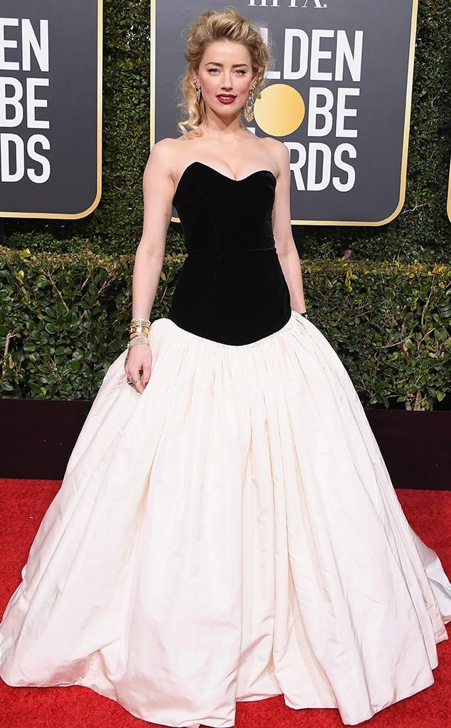 Amber Heard, 2019 Golden Globes, Golden Globe Awards, Red Carpet Fashions