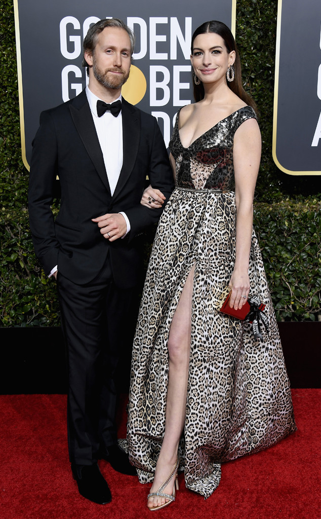 Adam Shulman, Anne Hathaway, 2019 Golden Globes, Couples