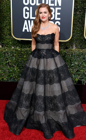 Isla Fisher, 2019 Golden Globes, Golden Globe Awards, Red Carpet Fashions