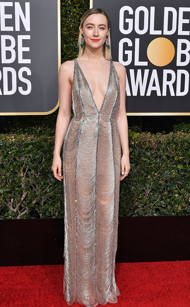 Saoirse Ronan, 2019 Golden Globes, Golden Globe Awards, Red Carpet Fashions