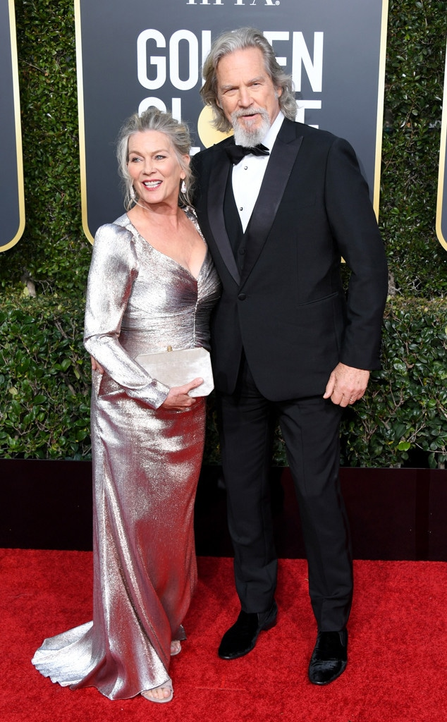 Susan Geston, Jeff Bridges, 2019 Golden Globes, Couples
