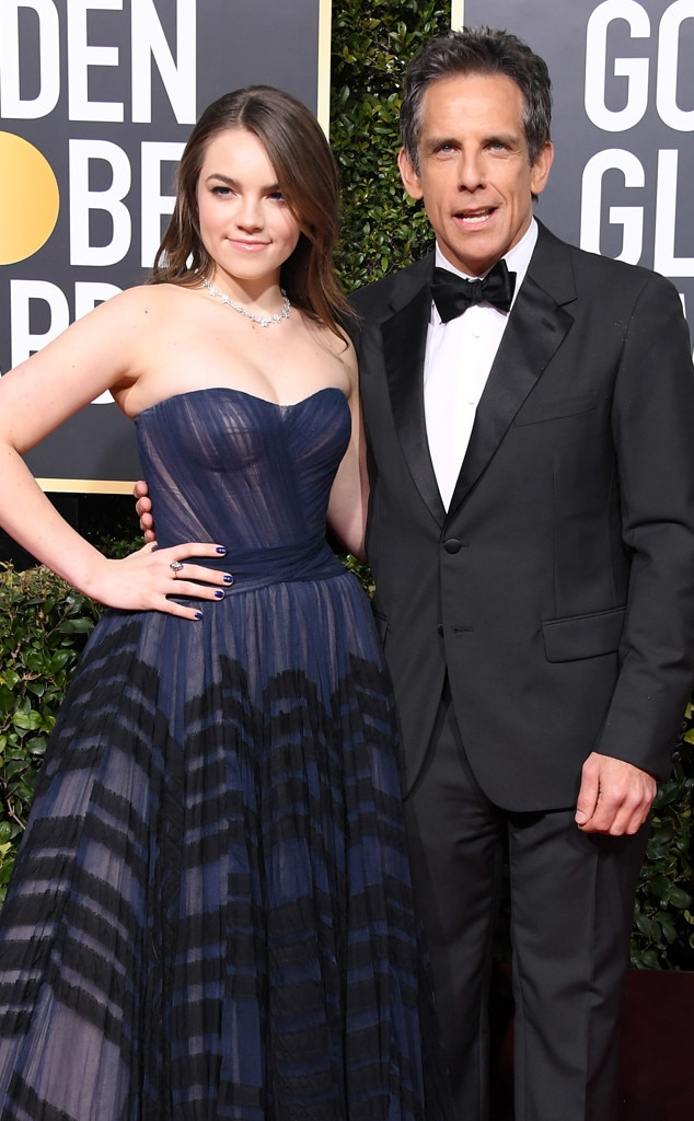 Ben Stiller, Ella Stiller, 2019 Golden Globes