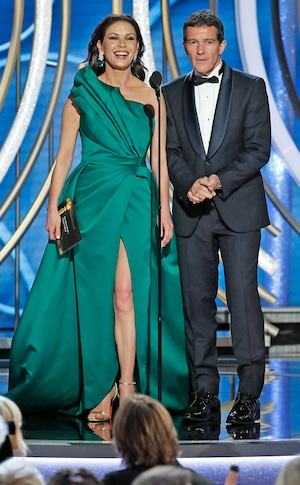 Catherine Zeta-Jones, Antonio Banderas, 2019 Golden Globe Awards