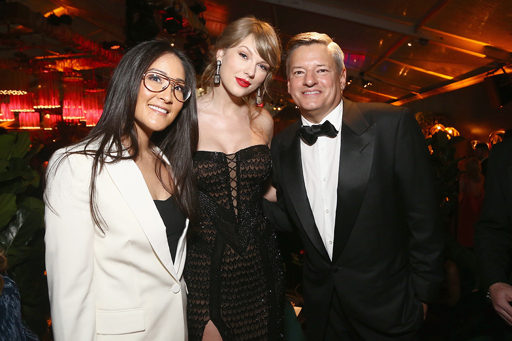Lisa Nishimura, Taylor Swift, Ted Sarandos, 2019 Golden Globe Awards, After Party