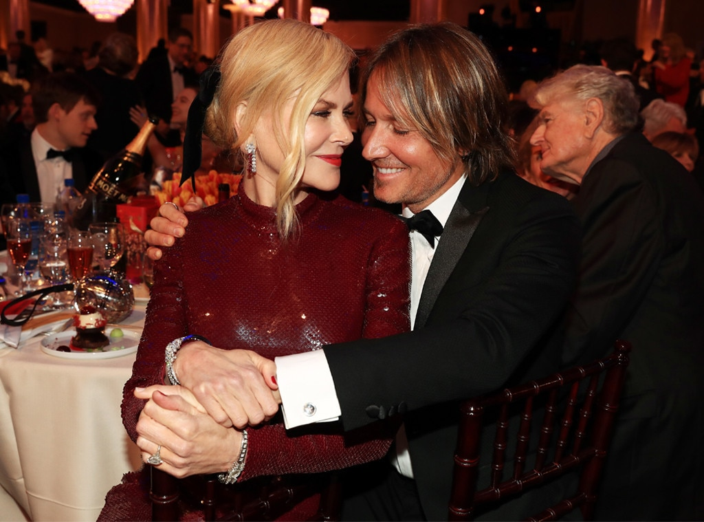 Nicole Kidman, Keith Urban, 2019 Golden Globe Awards