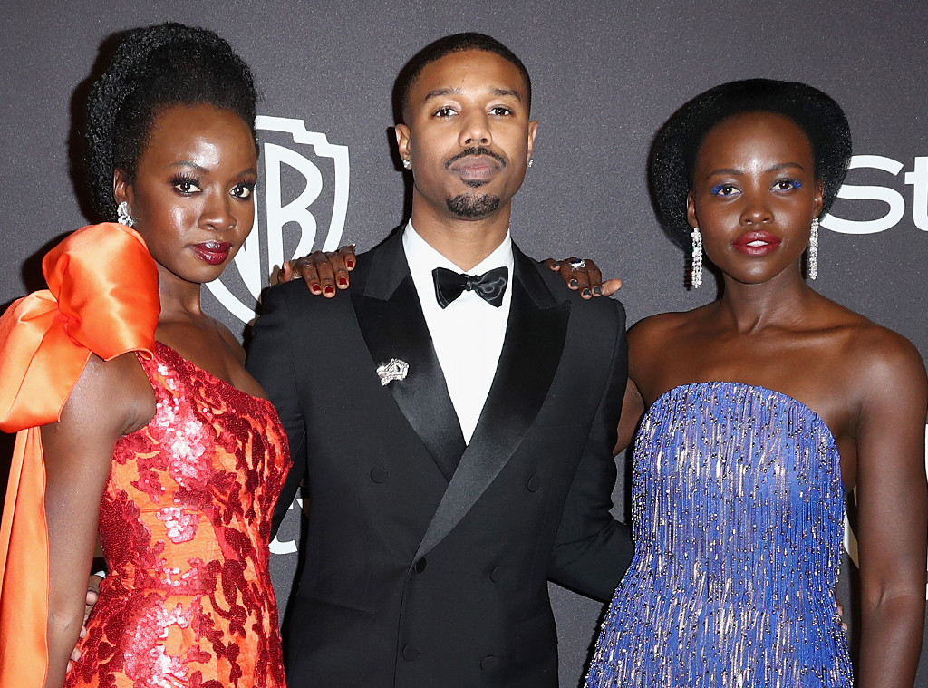 Danai Gurira, Michael B. Jordan, Lupita Nyong'o, Golden Globes After Party 2019