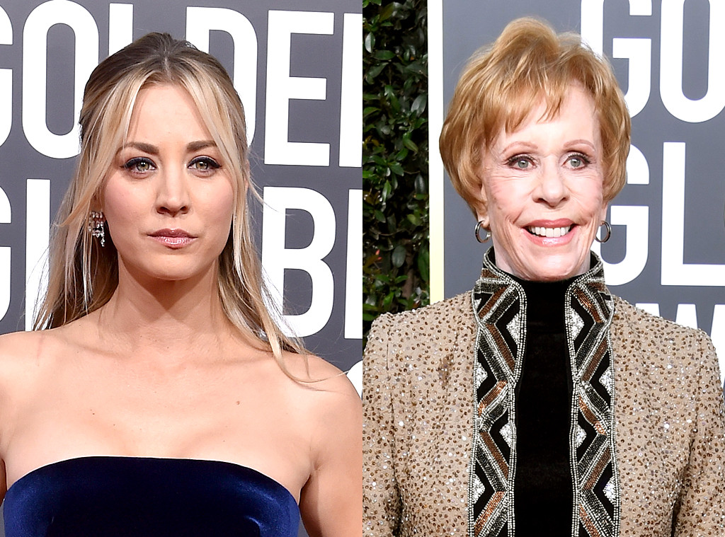 Kaley Cuoco, Carol Burnett, Golden Globe Awards