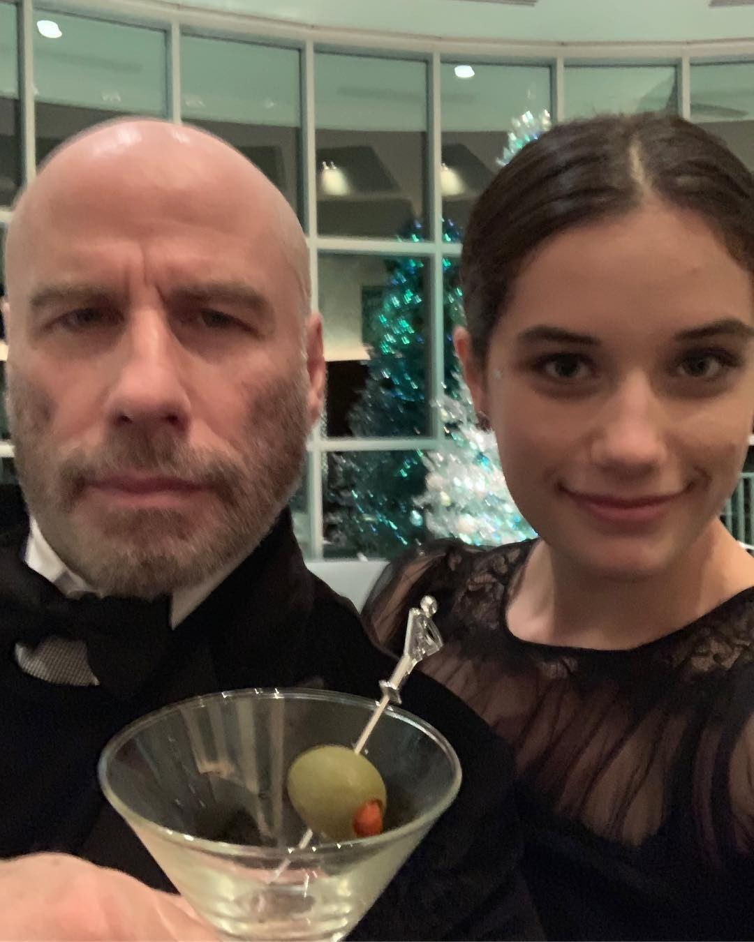 John Travolta Shows off Newly Shaved Head in New Year's Selfie