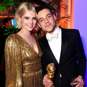 Lucy Boynton, Rami Malek, 2019 Golden Globe Awards, After Party