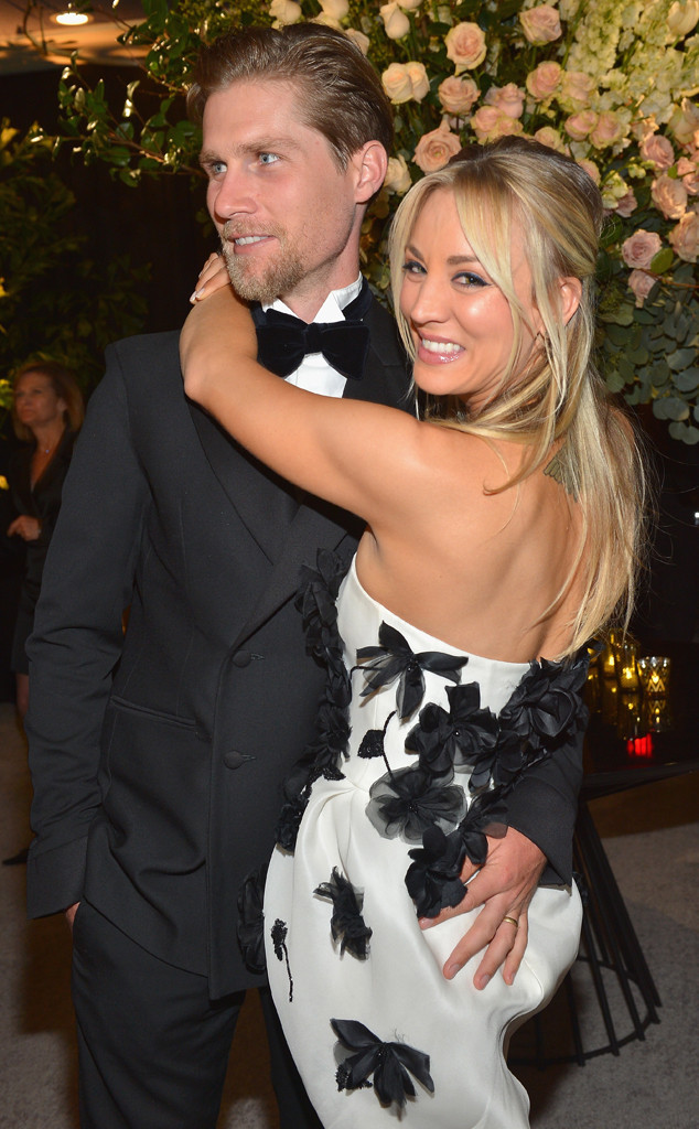 Karl Cook, Kaley Cuoco, 2019 Golden Globe Awards, After Party