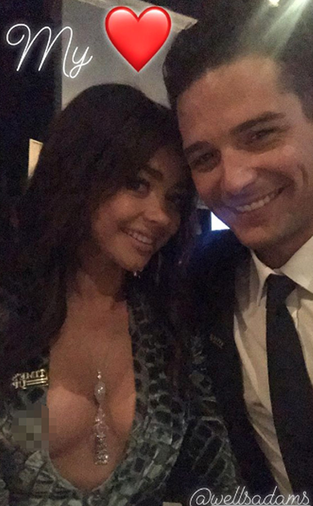 Sarah Hyland, Wells Adams, Golden Globes