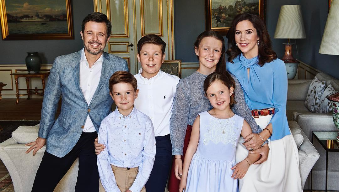 Princess Mary, Prince Frederik, Prince Vincent, Princess Josephine, Denmark