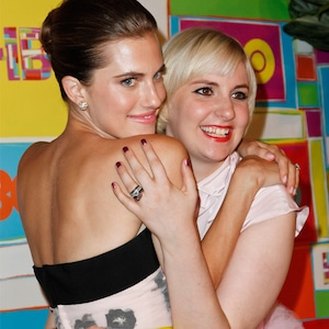 Allison Williams, Lena Dunham, 2014 HBO Emmy party