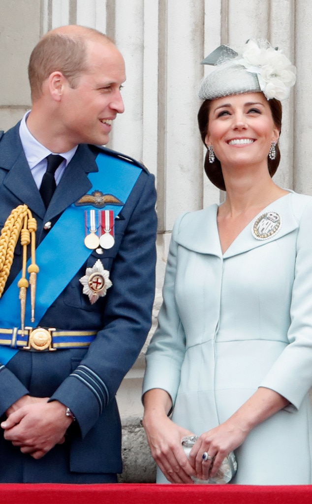 Beautiful in Blue -  Kate was all smiles as she watched a flypast to celebrate the centenary of the Royal Air Force.