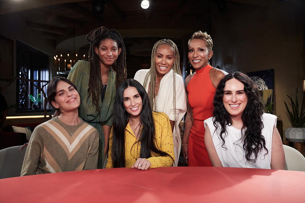 Demi Moore, Rumer Willis, Tallulah Willis, Jada Pinkett-Smith, Willow Smith, Adrienne Banfield-Jones, Red Table Talk