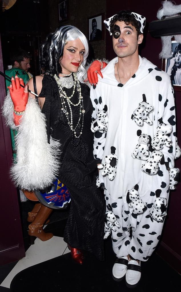 Mia Swier, Darren Criss, Halloween 2019