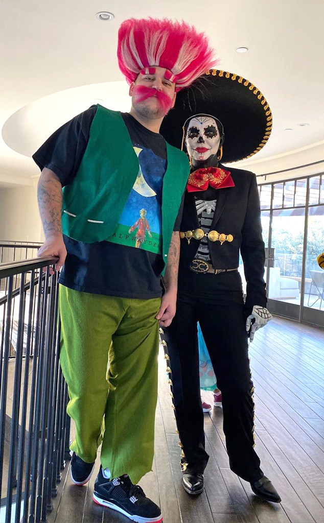 Kardashian Halloween 2020 Costumes Kris Jenner Looks Unrecognizable in Her 2020 Halloween Costume   E