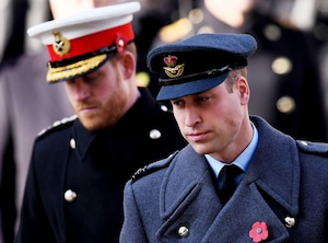 Prince William, Prince Harry, Remembrance Day Service