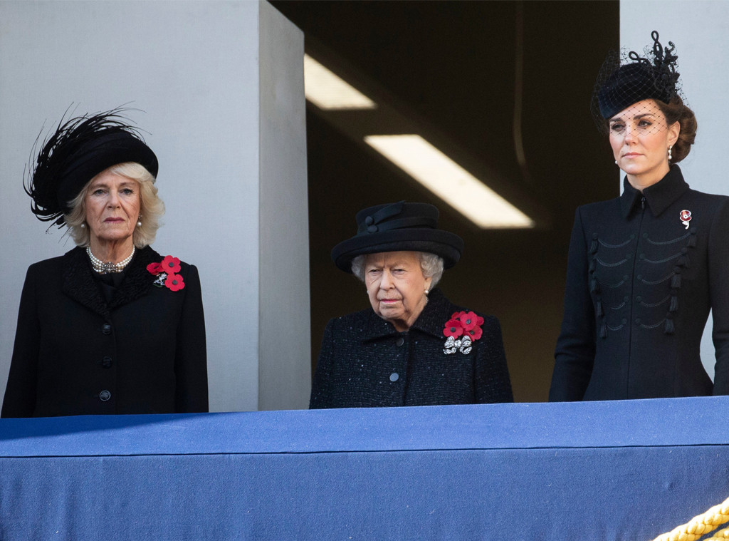 Camilla Duchess of Cornwall, Queen Elizabeth, Kate Middleton, Remembrance Day Service