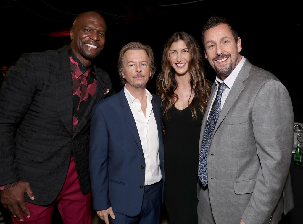 Terry Crews, David Spade, Jackie Sandler, Adam Sandler, 2019 E! People's Choice Awards, Backstage