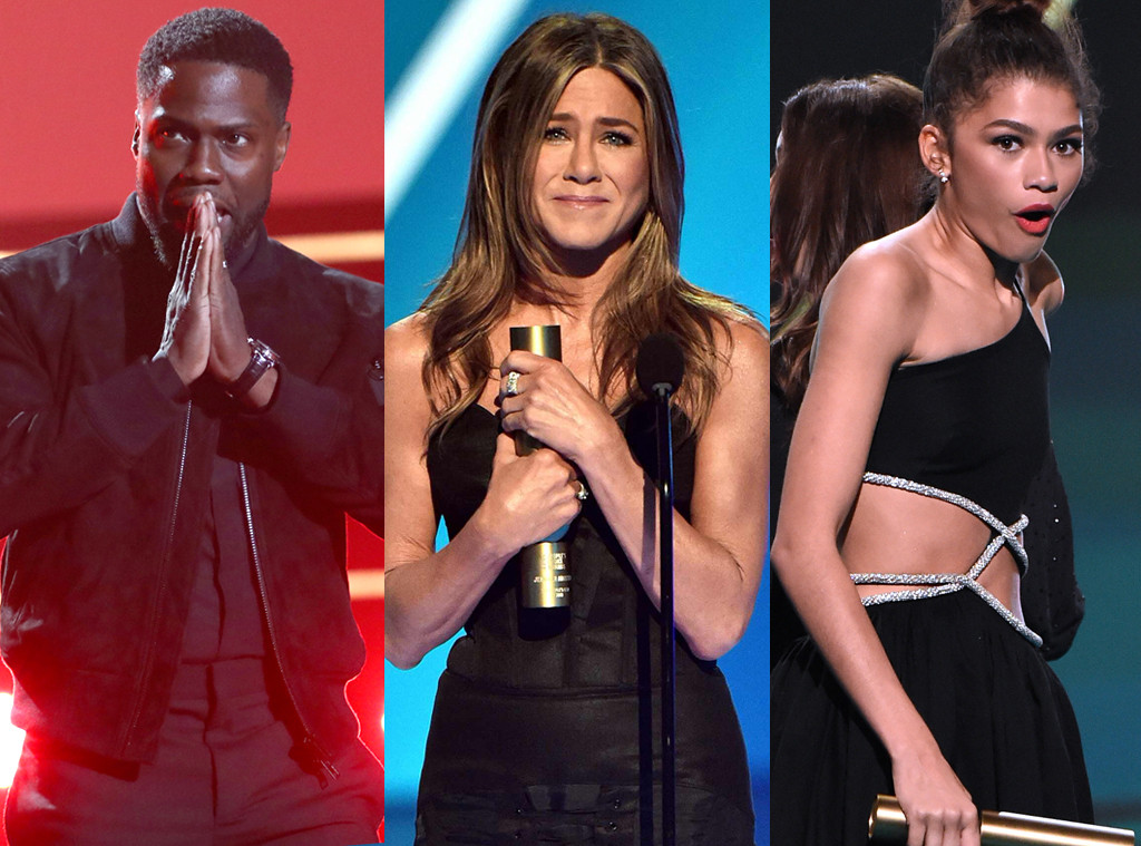 Kevin Hart, Jennifer Aniston, Zendaya, 2019 Peoples Choice Awards, 2019 PCAs, Jaw-droppers