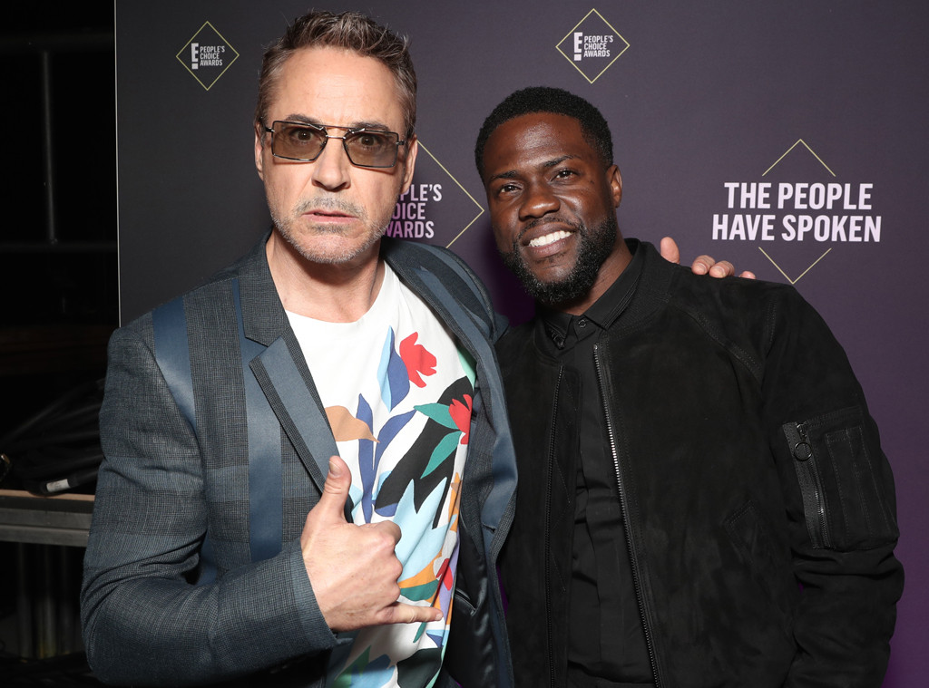 Robert Downey Jr., Kevin Hart, 2019 E! People's Choice Awards, Backstage