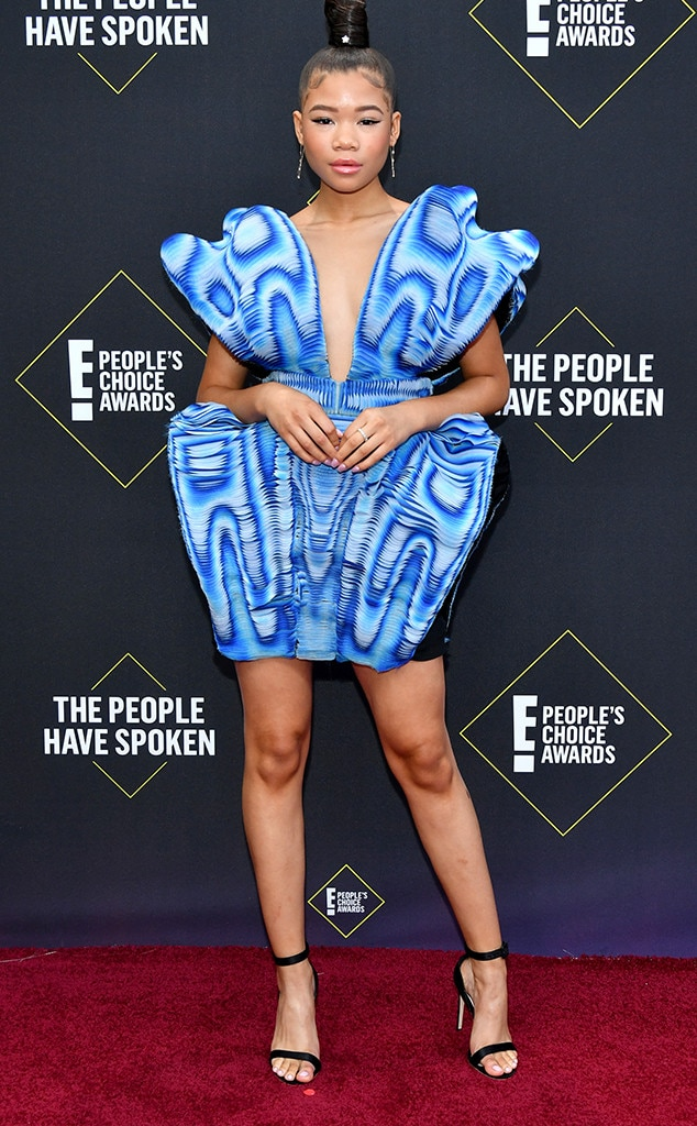 Storm Reid, 2019 E! People's Choice Awards, Red Carpet Fashion