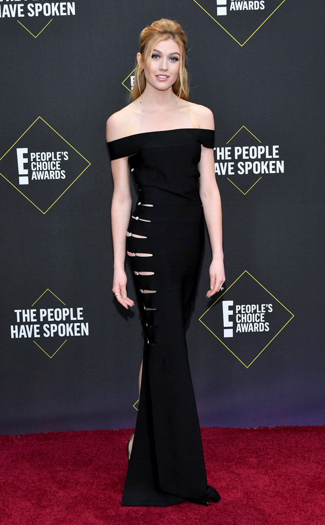 Katherine McNamara, 2019 E! People's Choice Awards, Red Carpet Fashion