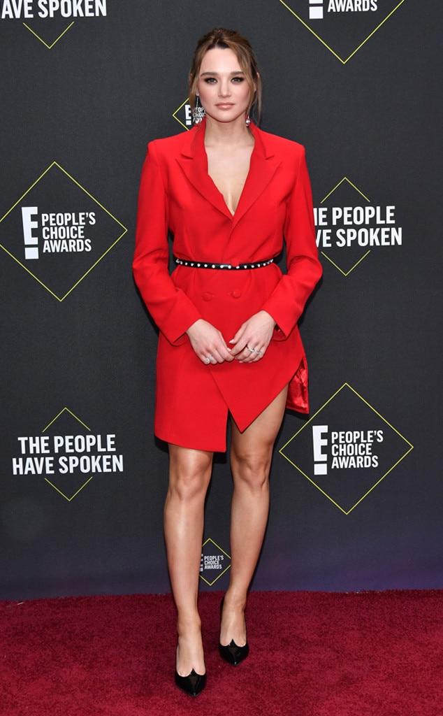 Hunter King, 2019 E! People's Choice Awards, Red Carpet Fashion
