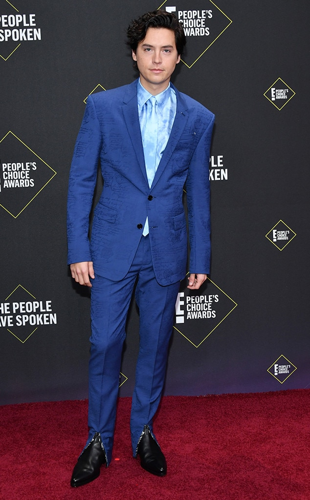 Cole Sprouse, 2019 E! People's Choice Awards, Red Carpet Fashion