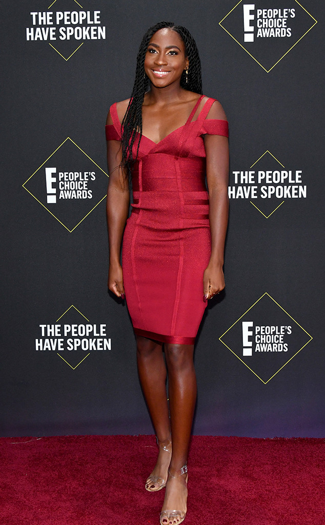 Coco Gauff, 2019 E! People's Choice Awards, Red Carpet Fashion