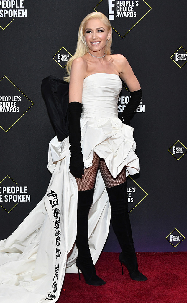 Gwen Stefani, 2019 E! Peoples Choice Awards, Red Carpet Fashion, Fashion Police Widget