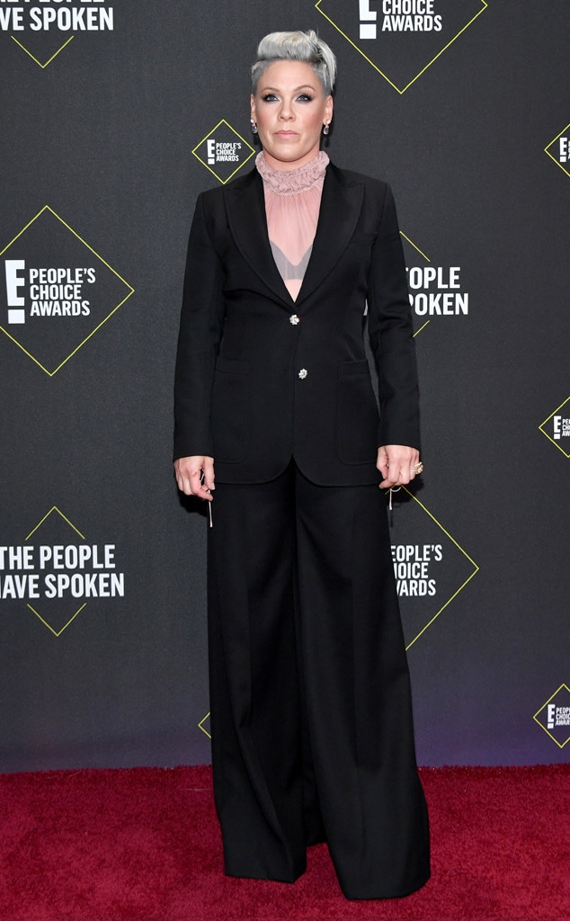 Pink, 2019 E! Peoples Choice Awards, Red Carpet Fashion