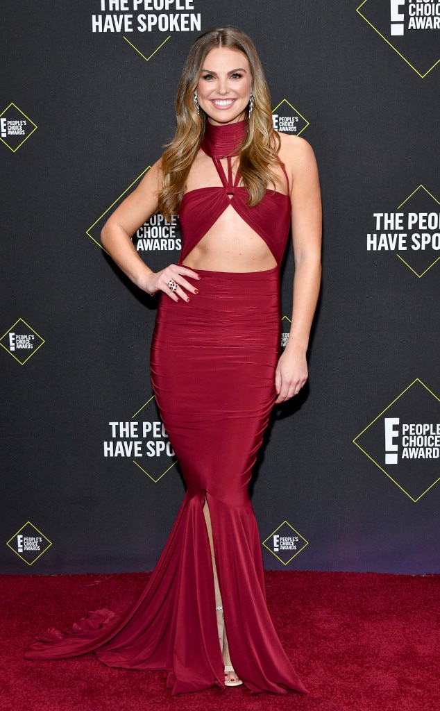 Hannah Brown, 2019 E! Peoples Choice Awards, Red Carpet Fashion, Fashion Police Widget