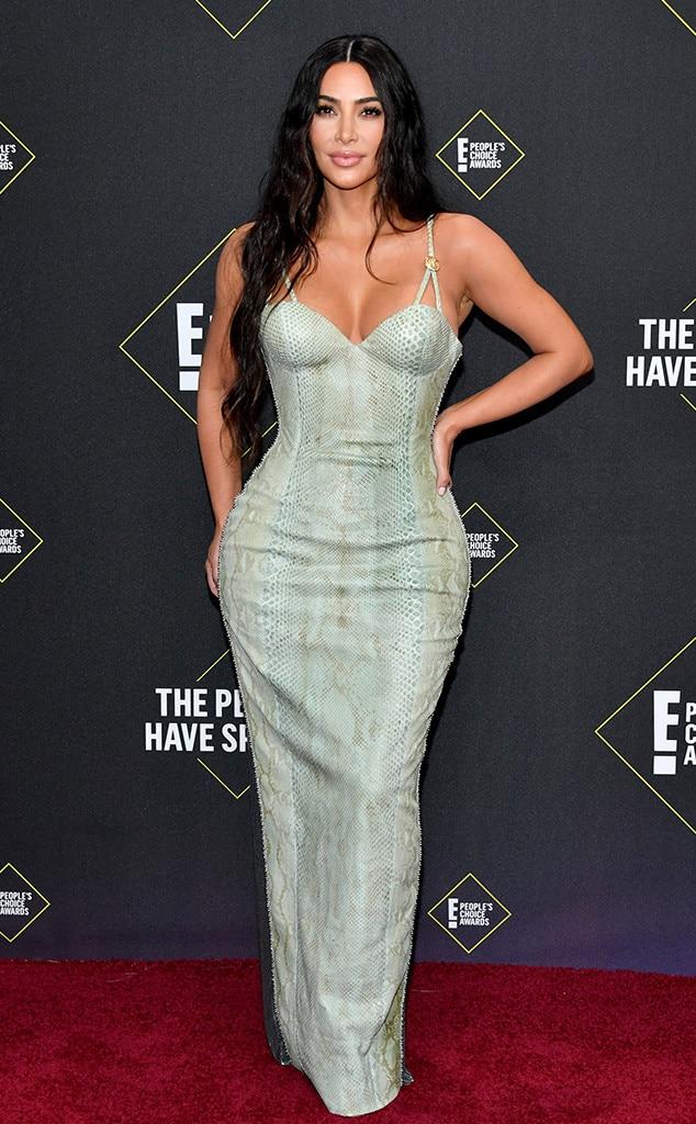Kim Kardashian West, 2019 E! People's Choice Awards, Red Carpet Fashion