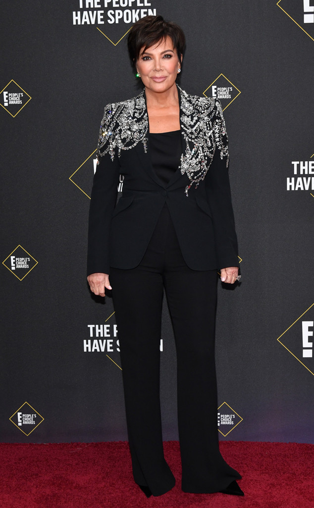 Kris Jenner, 2019 E! People's Choice Awards, Red Carpet Fashion