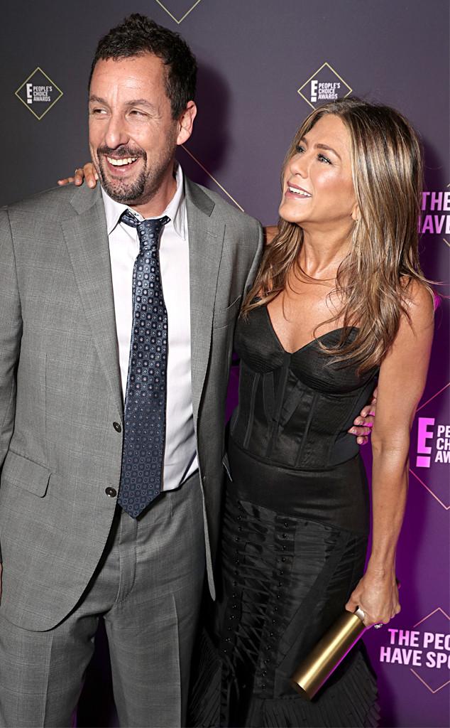 Jennifer Aniston, Adam Sandler, 2019 E! People's Choice Awards, Candids