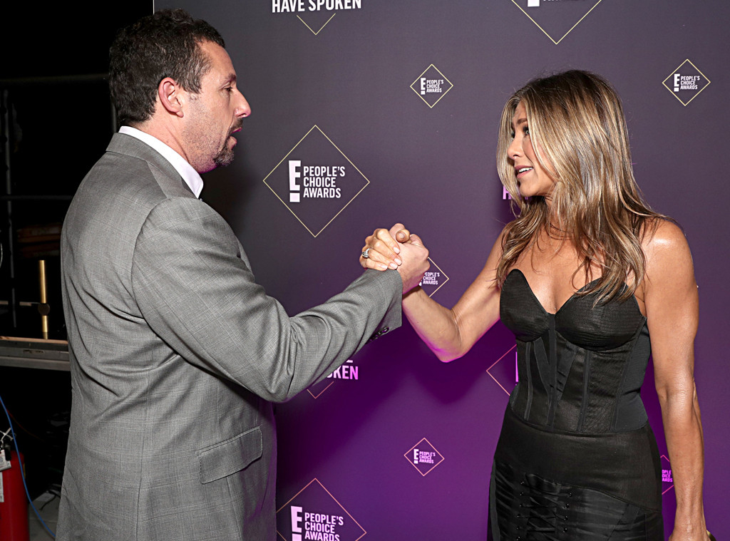 Adam Sandler, Jennifer Aniston, 2019 E! People's Choice Awards, Candids