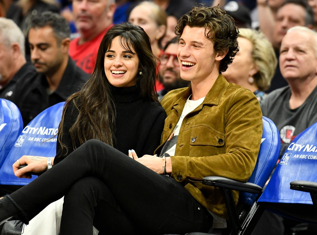 Camila Cabello, Shawn Mendes PDA date night at basketball game