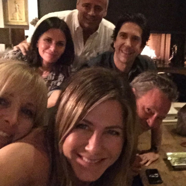 Jennifer Aniston, Courteney Cox, Lisa Kudrow, Matthew Perry, Matt LeBlanc, Friends, David Schwimmer