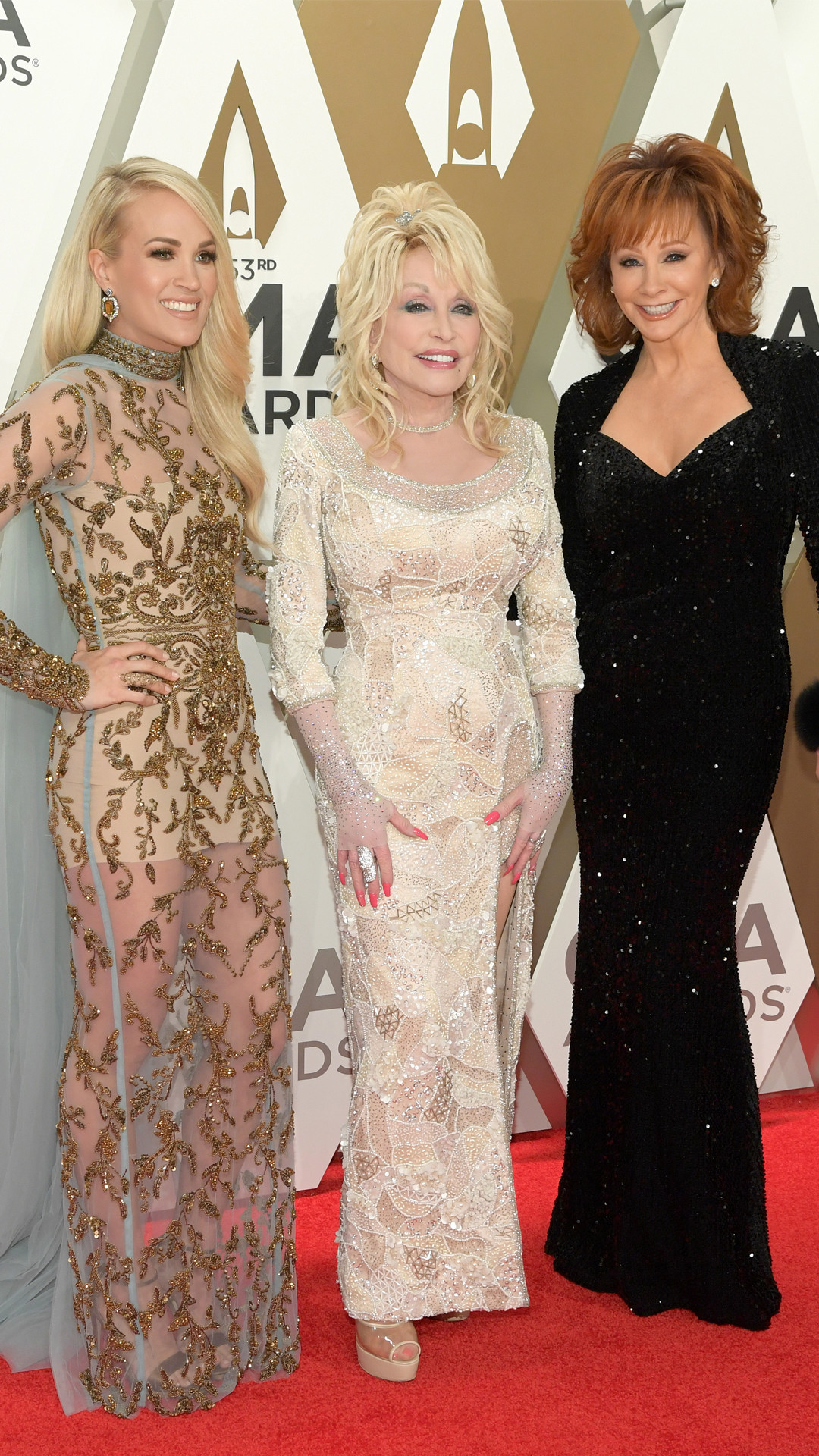 Carrie Underwood, Dolly Parton, Reba McEntire, 2019 CMA Awards