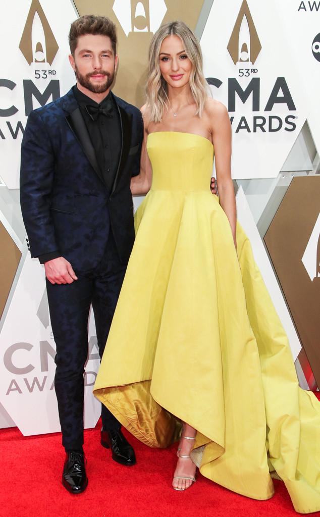 Chris Lane, Lauren Bushnell, 2019 CMA Awards, Red Carpet Fashion, Couples