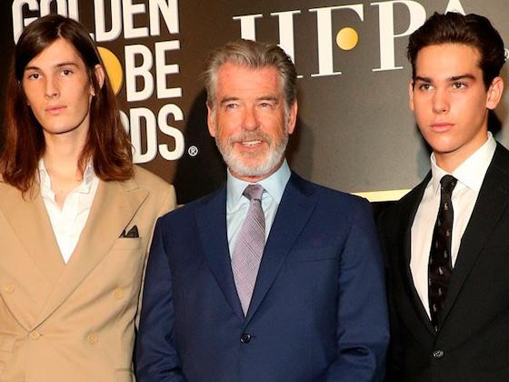 Pierce Brosnan's Sons Paris and Dylan Named Golden Globes Ambassadors 2020