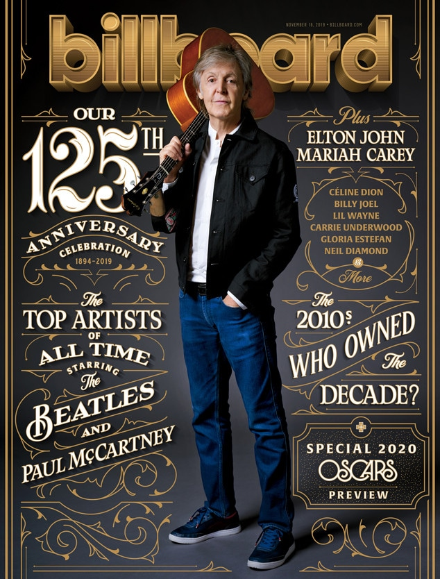 Paul McCartney, Billboard